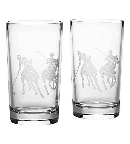 RALPH LAUREN HOME Garrett set of two highball glasses