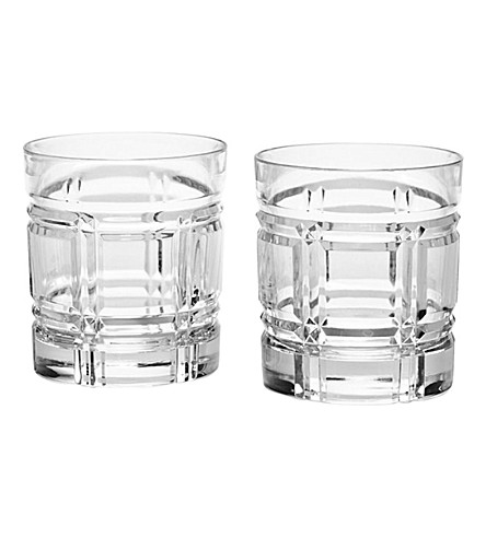 RALPH LAUREN HOME Set of two Greenwich crystal tumblers