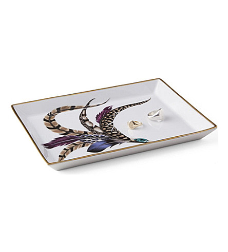 RALPH LAUREN HOME Carolyn porcelain trinket tray 20.5cm x 15.5cm