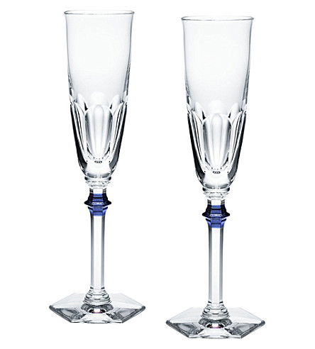 BACCARAT Set of 2 Harcourt Eve champagne flutes
