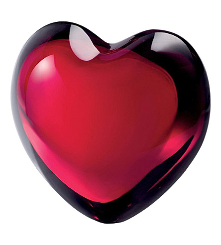 BACCARAT Crystal glass heart ornament