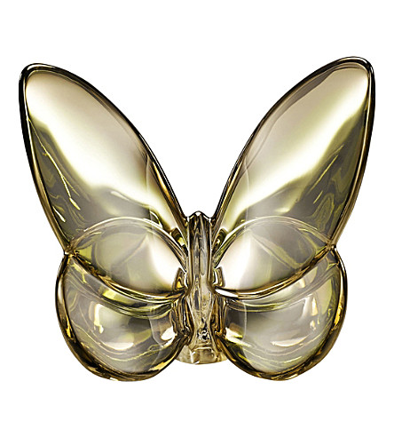 BACCARAT Lucky butterfly crystal glass ornament