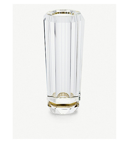 RALPH LAUREN HOME Leigh crystal and brass bud vase
