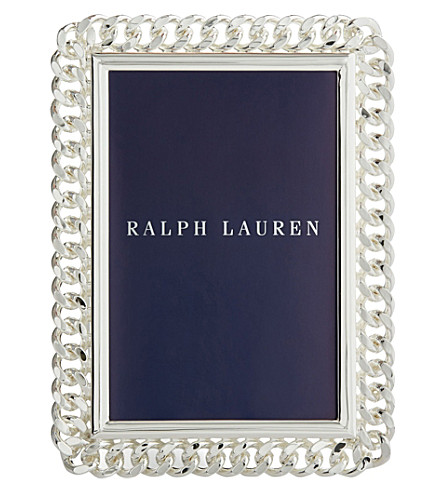 "RALPH LAUREN HOME Blake silver-plated photo frame 8"" x 10"""