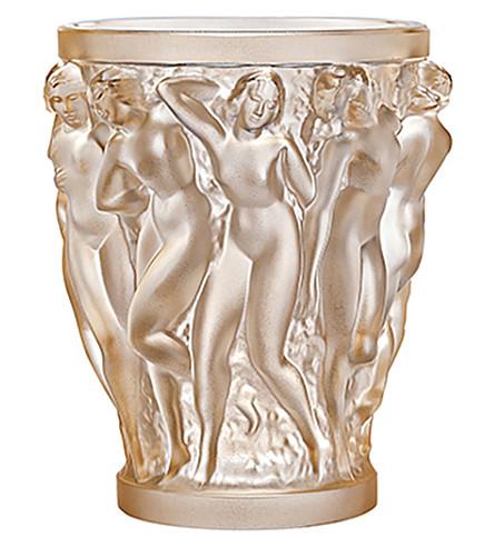 LALIQUE Bacchantes small crystal vase 14cm