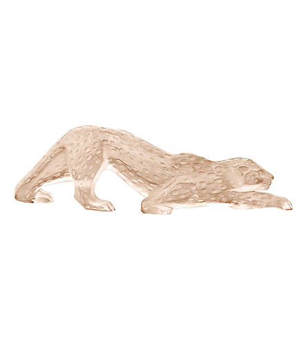 LALIQUE Zeila crystal glass panther ornament