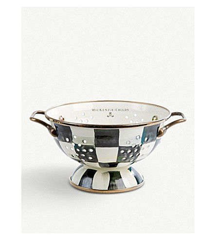 MACKENZIE CHILDS Courtly Check ceramic small colander