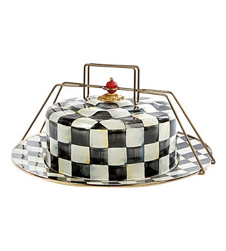 宫廷格纹搪瓷蛋糕载体