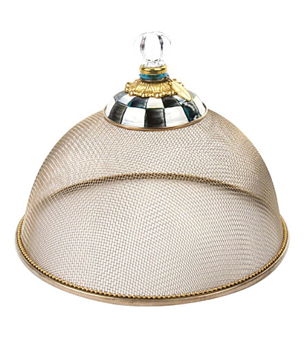 MACKENZIE CHILDS Courtly Check small mesh cake dome