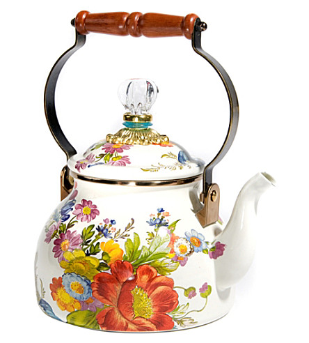 MACKENZIE CHILDS Flower Market tea kettle