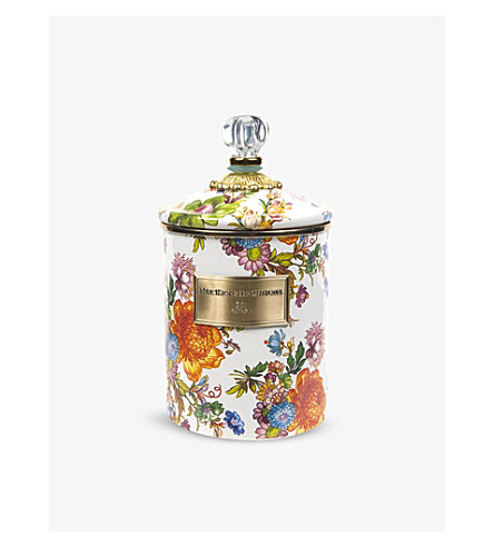 MACKENZIE CHILDS Flower market medium canister
