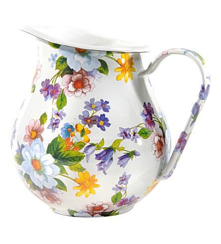 MACKENZIE CHILDS Flower market enamel pitcher