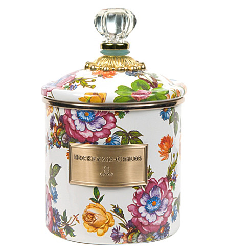 MACKENZIE CHILDS Flower market small enamel canister
