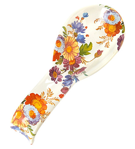 MACKENZIE CHILDS Flower market enamel spoon rest