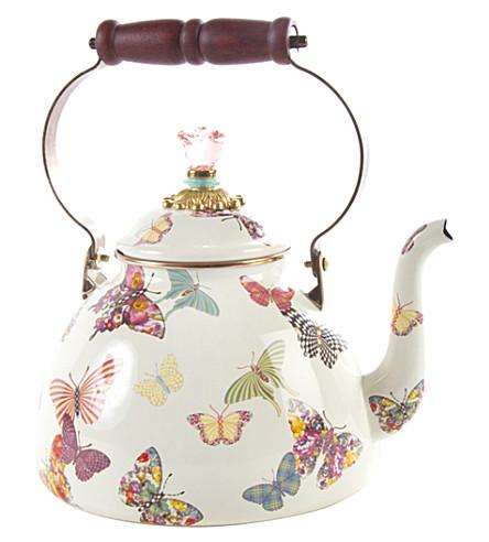 3qt 蝴蝶园搪瓷茶壶