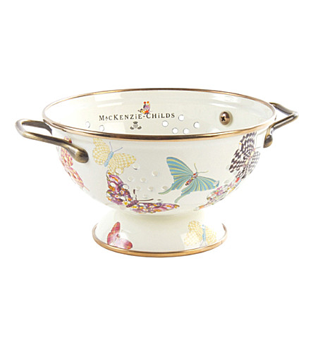 MACKENZIE CHILDS Butterfly Garden small colander