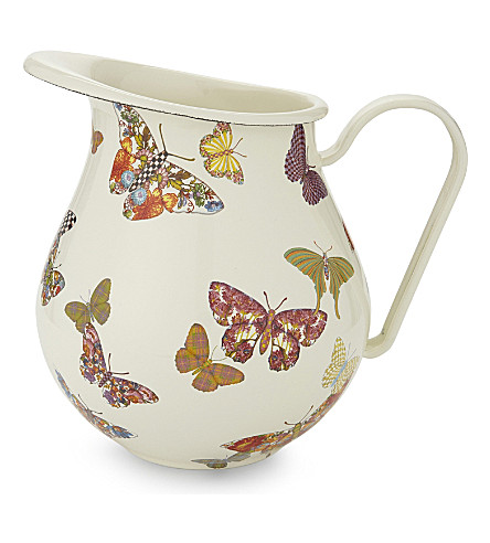 MACKENZIE CHILDS Butterfly garden pitcher jug
