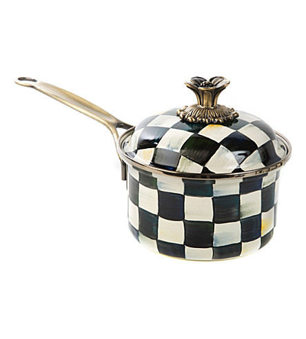 MACKENZIE CHILDS Courtly Check enamel saucepan 1.136l