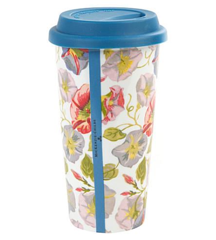 MACKENZIE CHILDS Morning glory porcelain travel cup