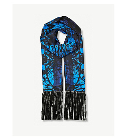 BEATRICE JENKINS Wategoes silk-twill scarf