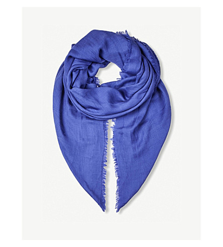 BEATRICE JENKINS Signature Bee wool and silk-blend scarf