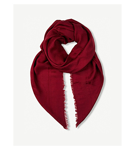 BEATRICE JENKINS 标志性的蜂羊毛和真丝混纺围巾