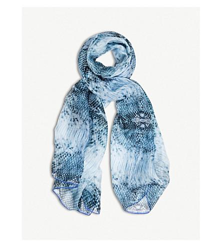 BEATRICE JENKINS Blue Goddess silk scarf