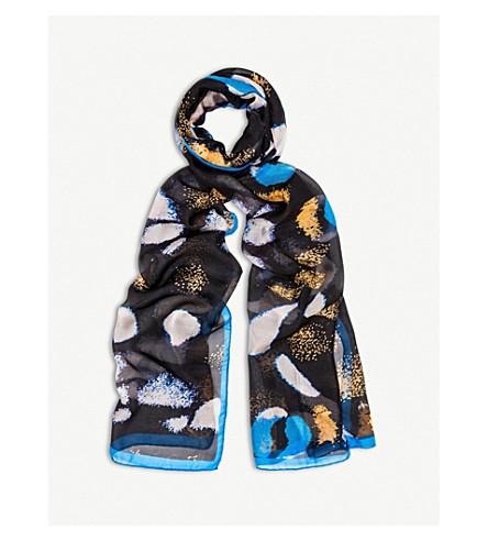 BEATRICE JENKINS Black Papilio silk scarf