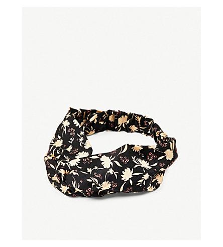 BEATRICE JENKINS Floral-print silk-twill headband