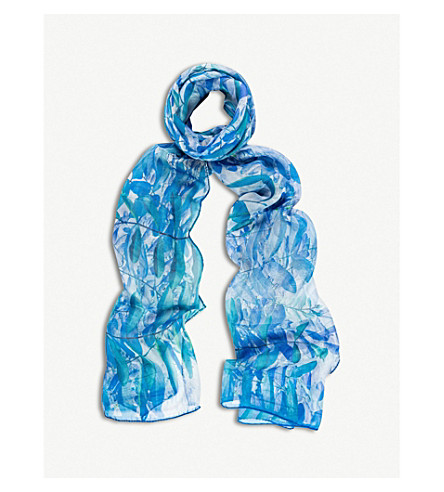 BEATRICE JENKINS Hurlingham Palm silk scarf