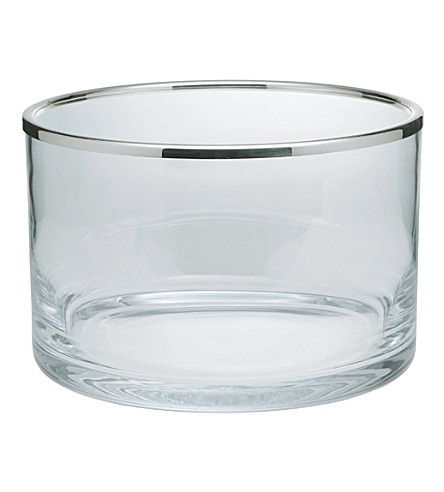 ERCUIS Glass & silver-plated bowl (Silver