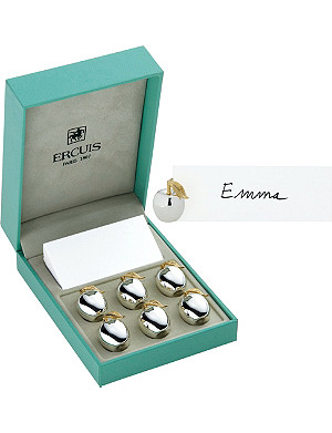 ERCUIS Set of six apple place holders
