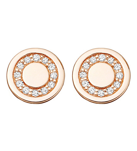 ASTLEY CLARKE Mini Cosmos 14ct yellow-gold and diamond stud earrings