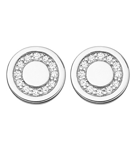 ASTLEY CLARKE Mini Cosmos sterling silver and diamond stud earrings