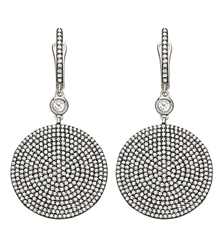 ASTLEY CLARKE Large Icon 14ct white-gold and diamond drop earrings
