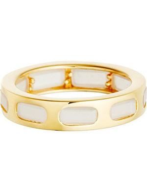 ASTLEY CLARKE 18ct gold vermeil moonstone slice ring