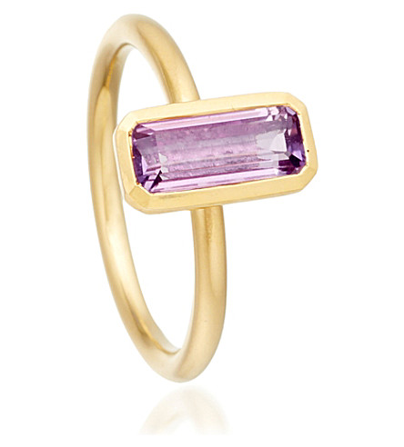 ASTLEY CLARKE 18ct gold vermeil amethyst ring