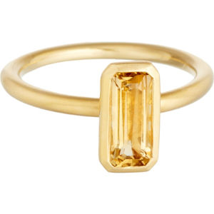 18ct gold vermeil citrine ring