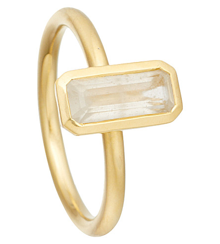 ASTLEY CLARKE 18ct gold vermeil moonstone ring