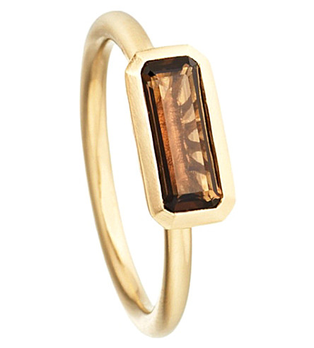 ASTLEY CLARKE 18ct gold vermeil smokey quartz ring