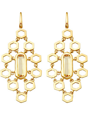 ASTLEY CLARKE 18ct gold vermeil honeycomb earrings