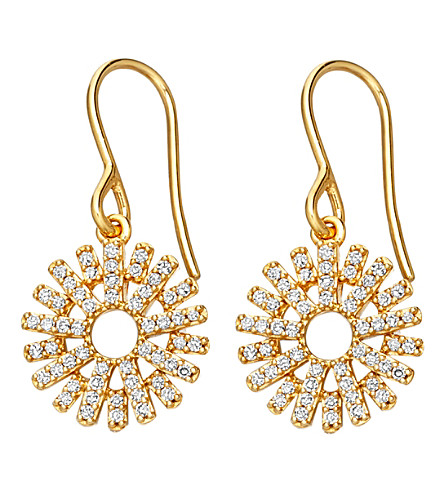 ASTLEY CLARKE Rising Sun 14ct yellow gold and diamond earrings (Yellow+gold