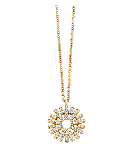 ASTLEY CLARKE Rising Sun 14ct yellow gold and diamond pendant (Yellow+gold