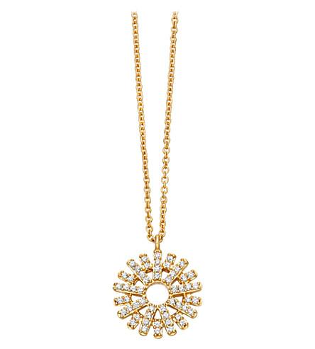 ASTLEY CLARKE Rising Sun 14ct yellow gold and diamond pendant (Yellow+gold