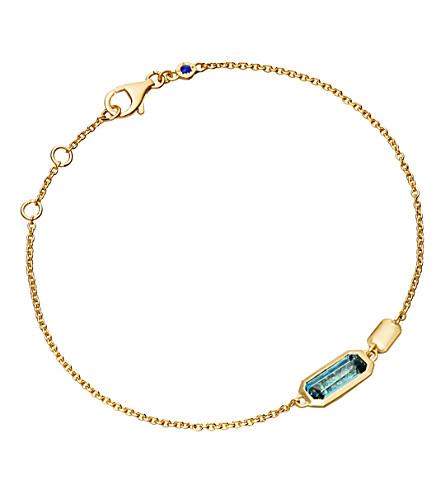 ASTLEY CLARKE 18ct gold vermeil blue topaz bracelet
