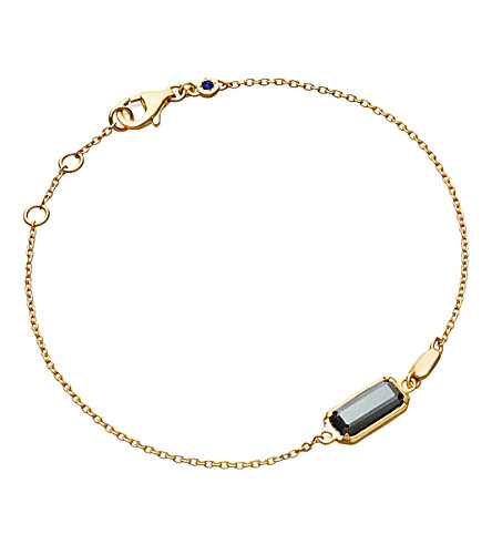 ASTLEY CLARKE Prismic 18-carat yellow gold-plated and hematite bracelet