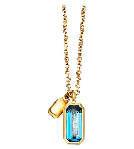ASTLEY CLARKE 18ct gold vermeil blue topaz necklace