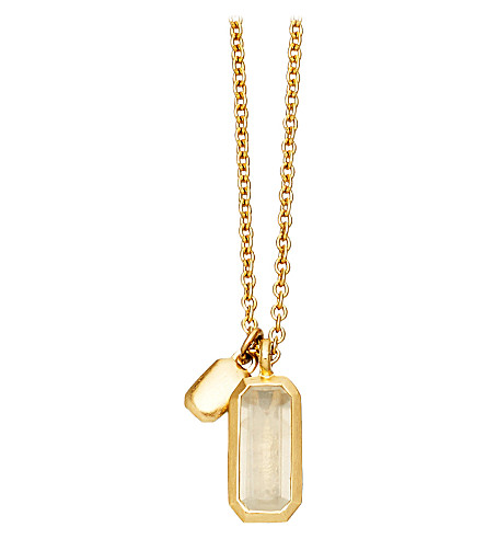 ASTLEY CLARKE 18ct gold vermeil moonstone necklace