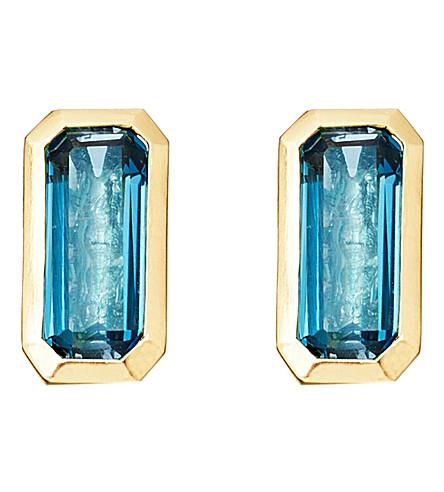ASTLEY CLARKE 18ct gold vermeil blue topaz earrings
