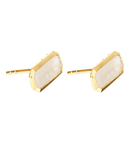 ASTLEY CLARKE 18ct gold vermeil moonstone earrings